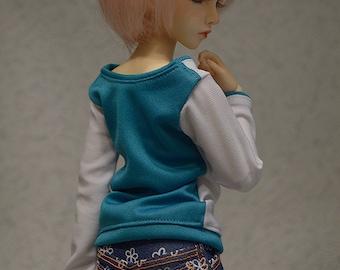Blue denim outfit for Minifee, Narae, Slim MSD