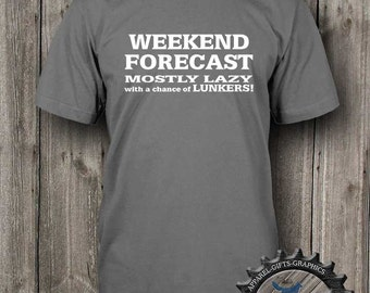Mens Fishing Shirt,Weekend Forecast,gift for fisherman,Mens TShirt,Fishing Shirt,Fishing Gifts, gift for dad,BFC_115_T