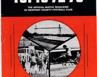 Vintage Football (soccer) Programme - Newport County v Southport, 1972/73 season
