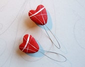 Red hearts curtain tie ba...