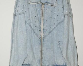 1980s Studded Denim Jacket