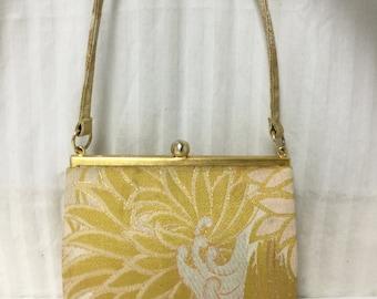 Free Ship Gold Vintage Purse Handbag