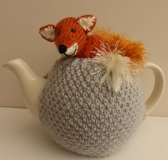 Hand Knitted Tea Cosy Patterns : Tea cosy. Beautiful hand knitted red fox tea cosy by AlisKnitShop
