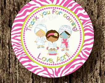Spa Party Cupcake Topper - Spa Birthday - spa label - spa baby shower - Spa printable - Spa sticker - spa party favor tag - spa in a jar