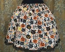 Halloween Stamp Lolita Skirt
