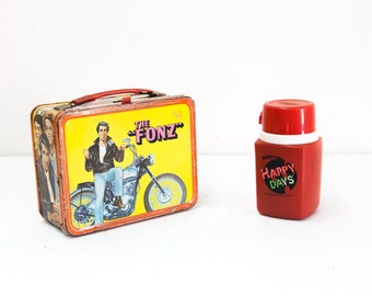 The Fonz Vintage Lunch Box with Original Thermos