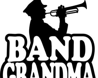Band Grandma Hoodie/ Band Grandma Sweatshirt/ Band Grandma Gift/ Band Grandma/ Boy Musician Band Grandma Hoodie Sweatshirt Many Colors