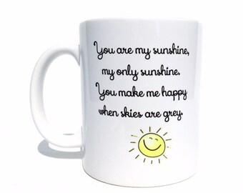 Mother's day gift, gifts for mom, mom mug, you are my sunshine coffee mug, mom gifts, cute mugs, sunshine mug, personalized mug, custom mug