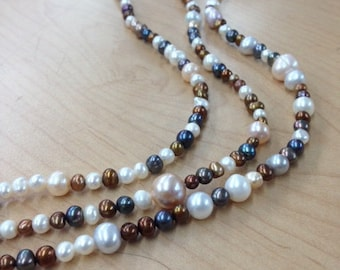 Cultured  freshwater pearls  4mm- multi