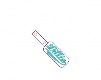 Lillie - Name Fob -  In The Hoop - Snap/Rivet Key Fob - DIGITAL EMBROIDERY DESIGN