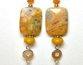 """Earrings, Jewelry, Handmade, Dangle Earrings, Women's Earrings, 3 5/8"""" Long"""