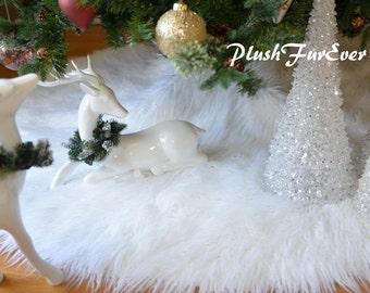 Faux fur tree skirt | Etsy