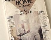80s Vintage Magazine / Metropolitan Home Magazine 1985 / Home Decor / Elements Of Style / Eurostyle / Home Furnishings / Interior Design