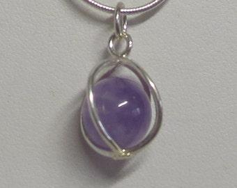 Sterling Silver caged gemstones