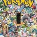 Pokemon Collage Single Light Switch Plate Cover