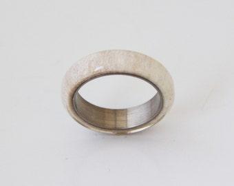 antler wedding ring mens wedding ring titanium ring with antler antler band