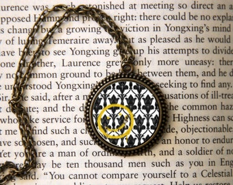 "SHERLOCK  ""Bored! Smiley"" Pendant Necklace, Sherlock Holmes,Fan Jewelry, Great Gift"