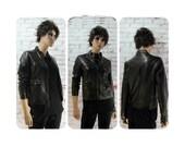 Women's jacket, black Vegan Leather Coat, crop jacket - biker  jacket , Miss Sixty  M60 ,  size medium # 202