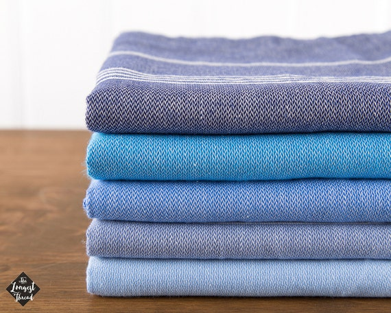 S A L E Basic Turkish Towel Peshtemal Navy Blue