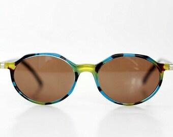 NOS Optisol Cat Eye Sunglasses / Vintage Womens shades / Deadstock Tortoise sunnies / Made in Austria 80s
