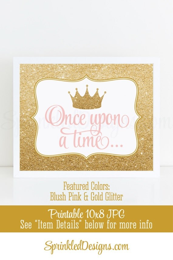 Once Upon A Time Princess Room Decor, Princess Birthday Decorations ...