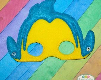 Flounder Fish Mask (M047), Children's Mask for Dress-Up, Party Favors
