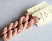 Hand dyed cotton thread / floss (6 strands) pale raspberry (111) for cross stitch / embroidery