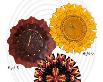 PDF Leather Wall Clock pattern - leathercraft - PDF pattern ONLY