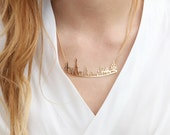 Paris Necklace,City Necklace, Gold Plated Necklace, Eiffel Tower Necklace, Dainty Gold Necklace, Girls Necklace, Necklace For Girlfriend