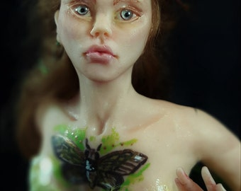 Rowan OOAK art Doll figurine fairy IADR