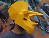 Triceratops Dinosaur Mask - make your own polygon mask
