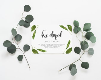 Nothing Fancy Just Love Announcement Card Elopement
