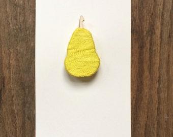 Pear Brooch