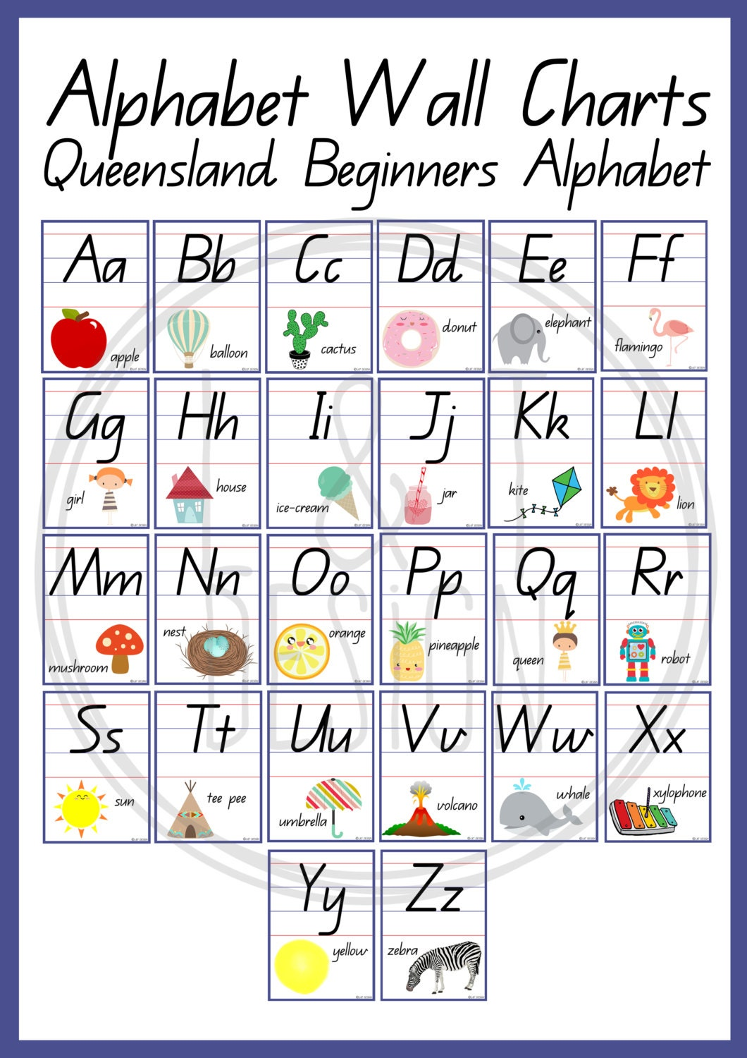 Modest image with alphabet chart printable