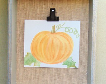 Pumpkin Original Watercolor Painting