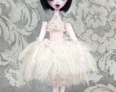 OOAK Hand Sewn Vampire Felt Doll with Stand