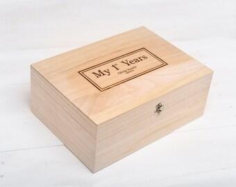 New Born Baby Gift, Christmas Gift, Christening Gift, New Baby Gift, Memory Keepsake Box, Baby Box, Baby Gift