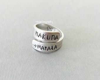 Hakuna Matata Ring. Lion King Ring