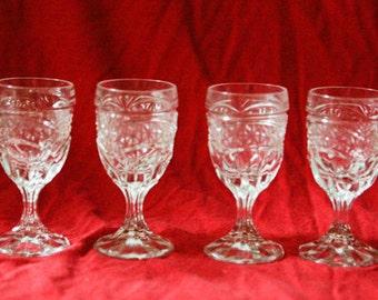 Crystal Cordial  Liqueur Glasses Set of 4