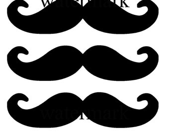 Black Mustaches eyebrows beards png files printed photo booth props x 4 sheets cut out fancy dress party twirly hipster accessories