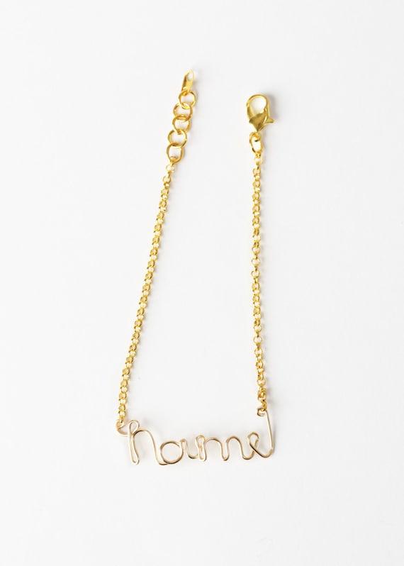Personalized Name Bracelet - Wire Name Bracelet - Gold Wire Name Bracelet - Personalized Jewelry - Name Jewelry - Wire Word Bracelet