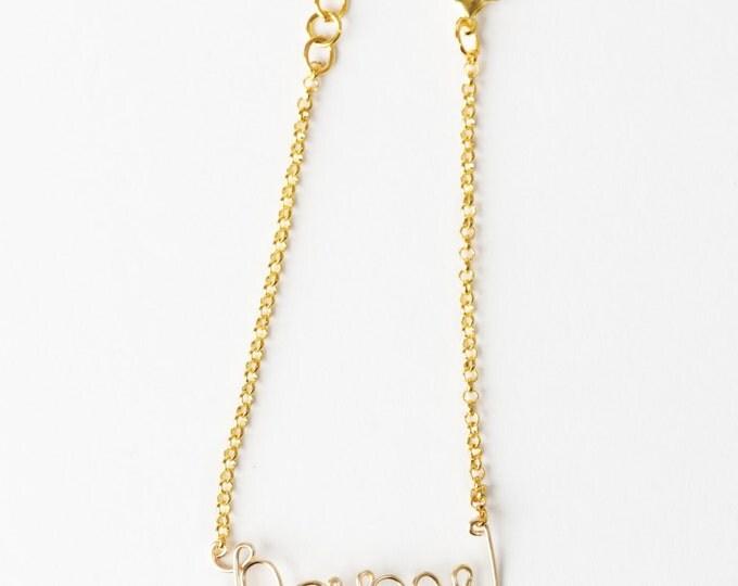 Personalized Name Bracelet (Gold)