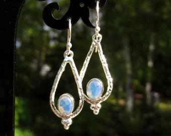 Opalite Earrings, Opalite Silver Earrings, Stone of Eternity, Fire Opalite, Opalite Jewelry, Gift for Her, Mother's Day