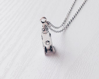Silver Rocket Necklace   Spaceship   Alien Themed Necklace   Rad   Awesome   90s   Space Ship   Gift   SALE