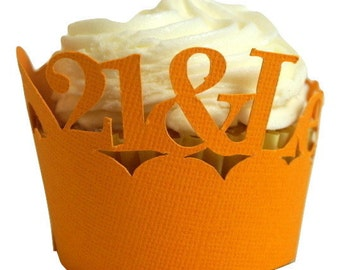 Orange 21-&-Legalized Cupcake Wrappers, Set of 12