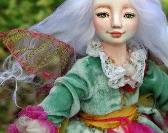"OOAK art doll ""Dilinki Lu"" flower fairy, 25 cm, ooak, doll, art doll, fairy, flower, fairy tale"