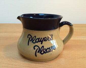 Vintage- Players Please- Pub Water Jug- Langley Pottery