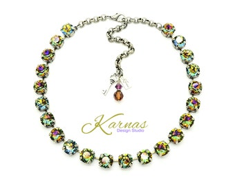 CRYSTAL VOLCANO 47SS or 10mm Chaton Necklace Made With Swarovski Elements *Pick Your Finish *Karnas Design Studio *Free Shipping