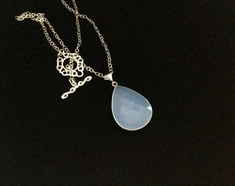 Reduced/Sky Blue Chalcedony Necklace