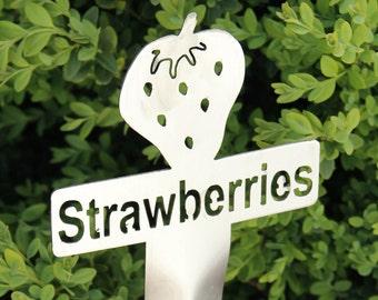 Strawberries Garden Marker (Stainless Steel)